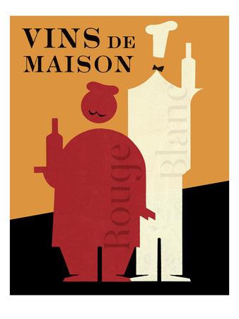Vins de Maison Posters by Hugo Wild