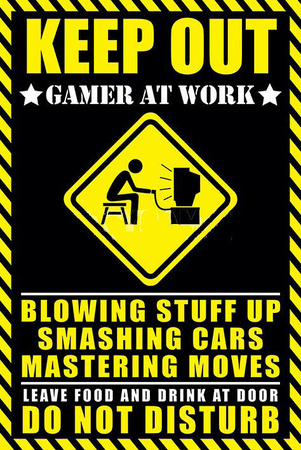 Keep Out Gamer At Work Prints