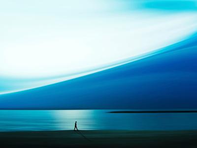Blue Walk Photographic Print by Josh Adamski