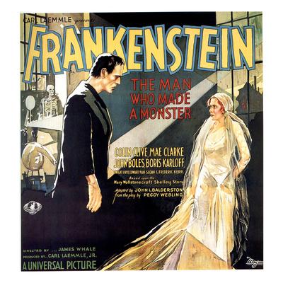 Frankenstein, Boris Karloff, Mae Clarke, 1931 Photo