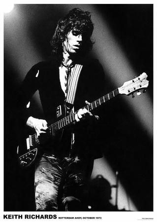 Keith Richards Rotterdam 1973 Poster