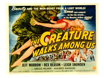 Creature Walks Among Us, The, Leigh Snowden, Jeff Morrow, Rex Reason, 1956 Photo