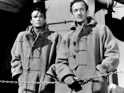 The Guns of Navarone, Gregory Peck, David Niven, 1961, on the Ship's Deck Photo