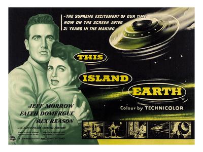 This Island Earth, L-R: Rex Reason, Faith Domergue, 1955 Photo