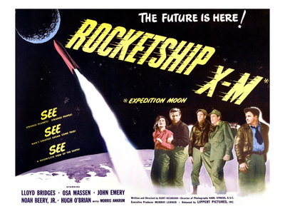 Rocketship X-M, Far Left: Osa Massen, Second From Left: Lloyd Bridges, 1950 Photo