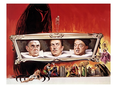 The Raven, Boris Karloff, Vincent Price, Peter Lorre, 1963 Photo