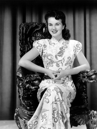 Deanna Durbin Posing in Costume Used in Amazing Mrs. Holliday, 1943 Photo