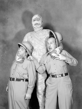 Abbott and Costello Meet the Mummy, Lou Costello, Eddie Parker, Bud Abbott, 1955 Photo