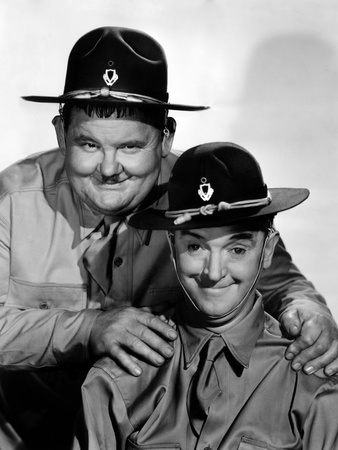 Great Guns, Oliver Hardy, Stan Laurel [Laurel and Hardy], 1941 Photo