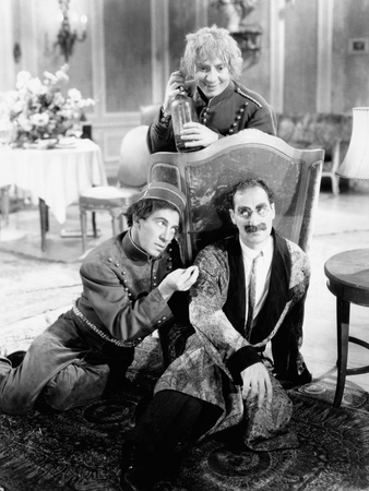 A Day at the Races, Chico Marx, Harpo Marx, Groucho Marx, 1937 Photo