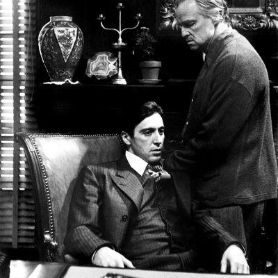 The Godfather, Al Pacino, Marlon Brando, 1972 Photo