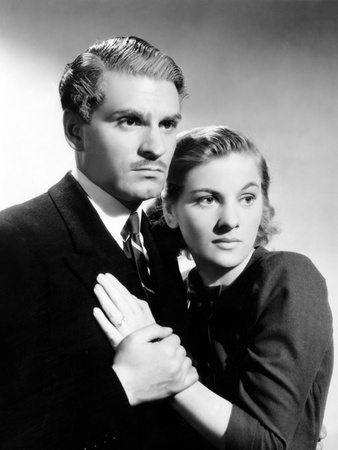 Rebecca, Laurence Olivier, Joan Fontaine, 1940 Photo