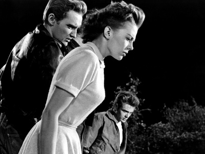 Rebel Without A Cause, Dennis Hopper, Natalie Wood, James Dean, 1955 Photo