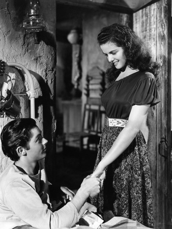 The Outlaw, Jack Buetel, Jane Russell, 1943 Foto