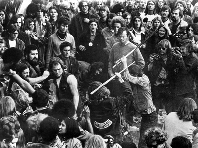 Gimme Shelter, Hell's Angels Beating An Audience Member At Altamont, 1970 Photo