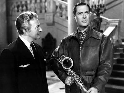 Here Comes Mr. Jordan, Claude Rains, Robert Montgomery, 1941 Photo