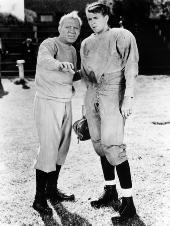 Knute Rockne All American, Pat O'Brien, Ronald Reagan, 1940 Photo