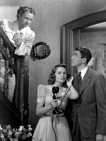 It's A Wonderful Life, Sarah Edwards, Donna Reed, James Stewart, 1946 Photo