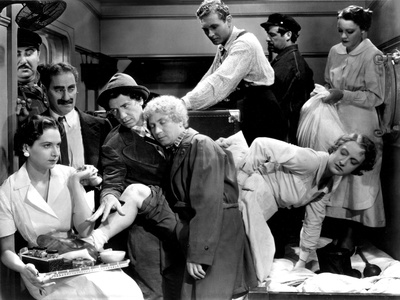 A Night At The Opera, Groucho Marx, Chico Marx, Harpo Marx Allan Jones, 1935, Crowded Stateroom Photo