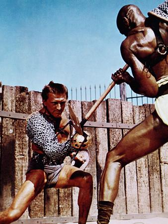 Spartacus, Kirk Douglas, Woody Strode, 1960 Photo