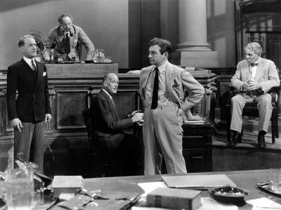 They Won't Forget, Otto Kruger, Leonard Mudie, Claude Rains, E. Alyn Warren, 1937 Photo