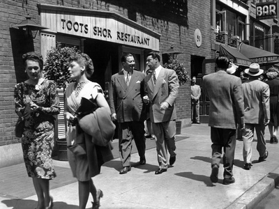 The Naked City, Toots Shor, Joe Dimaggio, On Location In New York, 1948 Foto