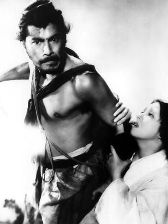 Rashomon, Toshiro Mifune, Machiko Kyo, 1950 Photo