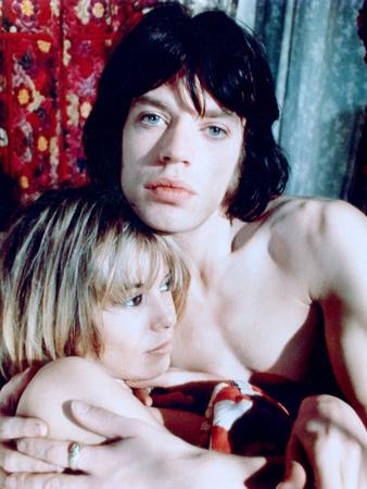 Performance, Anita Pallenberg, Mick Jagger, 1970 Photo