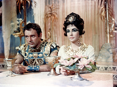 Cleopatra, Richard Burton And Elizabeth Taylor, 1963 Photo