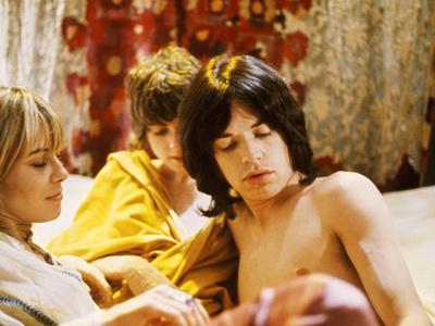 Performance, Anita Pallenberg, Michele Breton, Mick Jagger, 1970 Photo