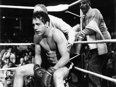 Somebody Up There Likes Me, Paul Newman, Everett Sloane, Sammy White, 1956 Photo