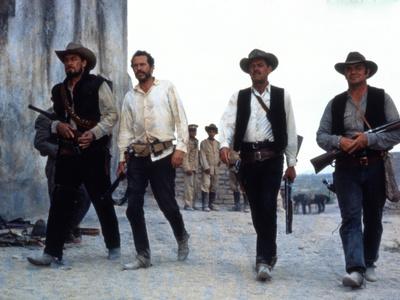 The Wild Bunch, Ben Johnson, Warren Oates, William Holden, Ernest Borgnine, 1969 Photo