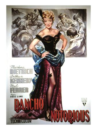 Rancho Notorious, Marlene Dietrich, 1952 Foto