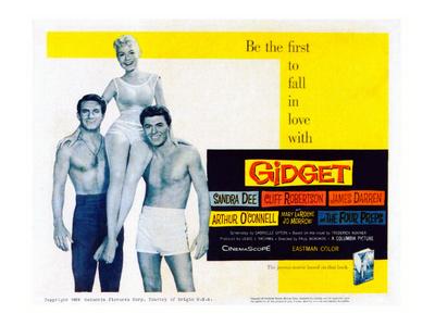 Gidget, Cliff Robertson, Sandra Dee, James Darren, 1959 Photo