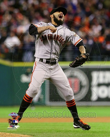 MLB Sergio Romo Celebrates Winning Game 4 of the 2012 World Series Photo