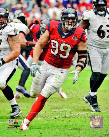 J.J. Watt 2012 Action Photo