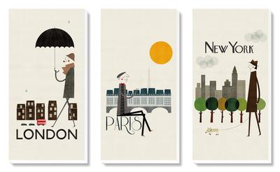 London paris new york plakat w - Tableau paris londres new york ...