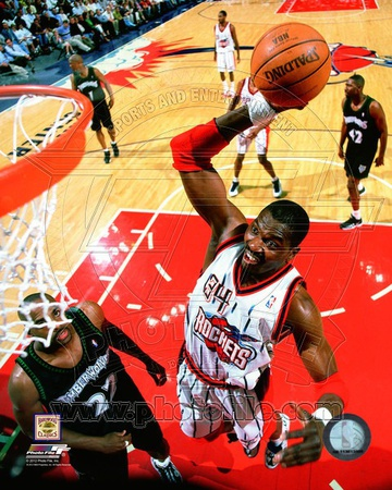 NBA Hakeem Olajuwon 1999 Action Photo