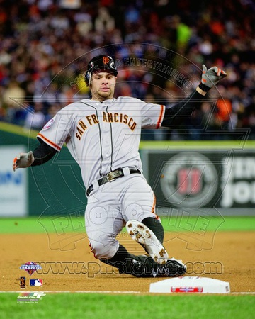 Brandon Belt RBI Triple Game 4 of the 2012 World Series Action Photo