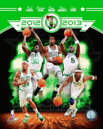Boston Celtics 2012-13 Team Composite Photo