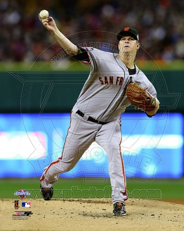 Matt Cain Game 4 of the 2012 World Series Action Photo