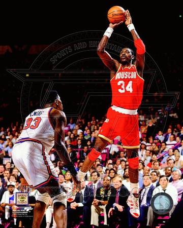 Hakeem Olajuwon Game 4 of the 1994 NBA Finals Action Photo