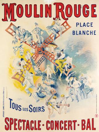 1902- Réouverture Moulin Rouge Premium Giclee Print by Jose Belon