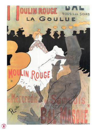 1891 Moulin Rouge La Goulue (1bande) Premium Giclee Print by Henri de Toulouse-Lautrec