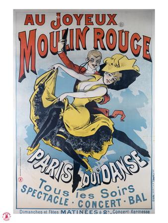 1896- Au Joyeux Moulin Rouge - Choubrac Premium Giclee Print by Alfred Choubrac