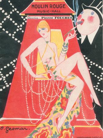 1925 Moulin Rouge programme ça c'est paris Premium Giclee Print by Edouard Halouze