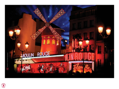 2010 Moulin Rouge twinkling stars Photographic Print