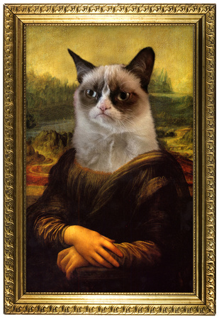 Grumpy Cat Mona Lisa Prints