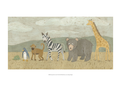 Animals All in a Row II Prints by Megan Meagher
