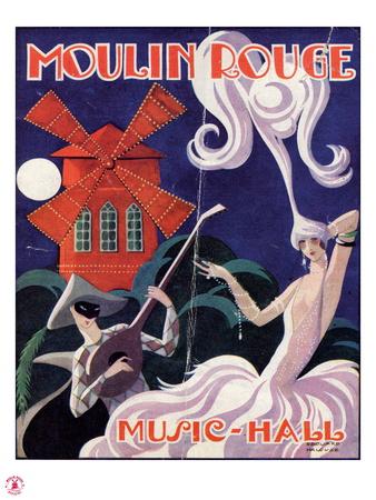 1924 Moulin Rouge Programme Premium Giclee Print by Edouard Halouze